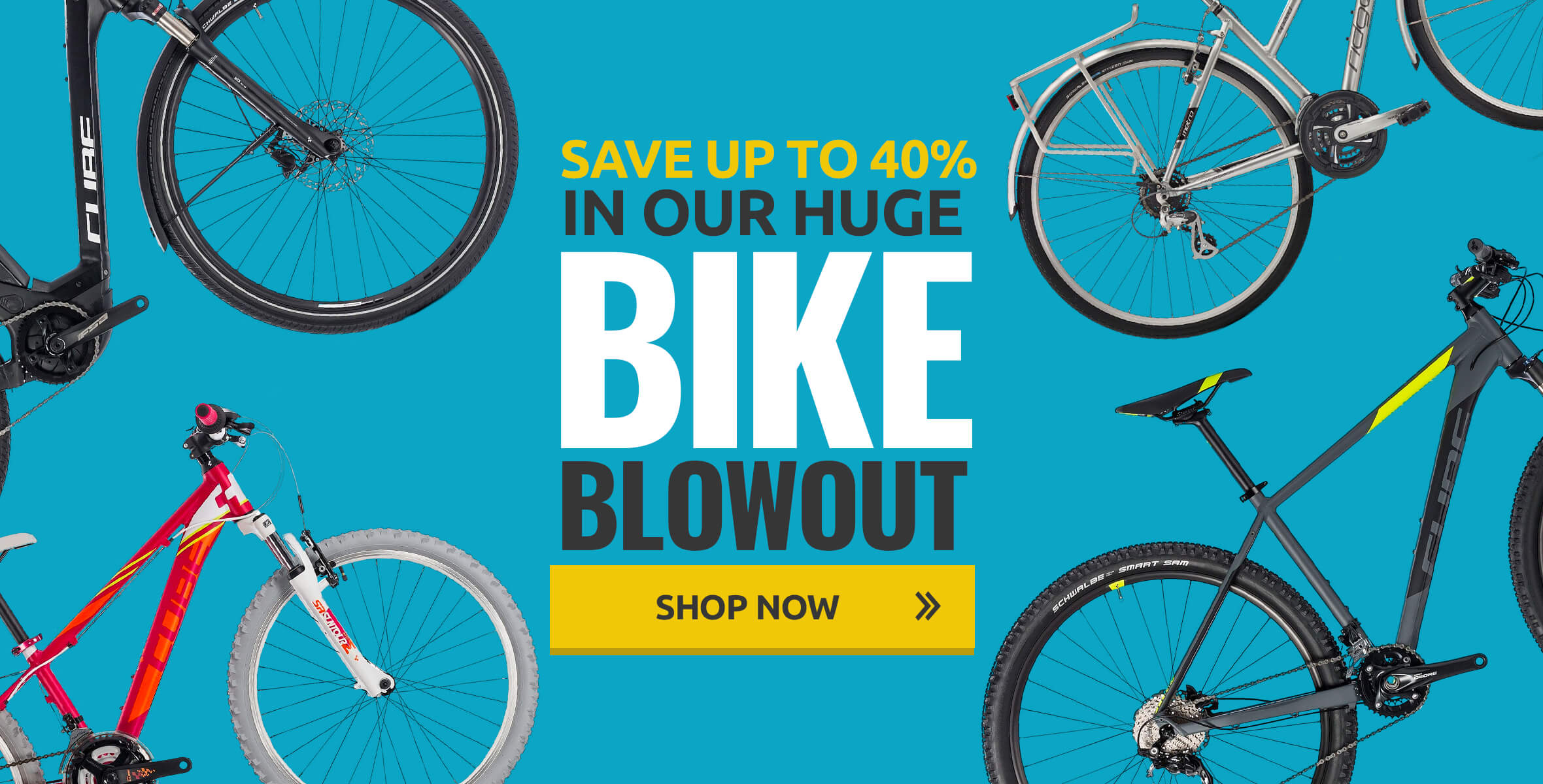 Save up to 40% in our huge bike blowout