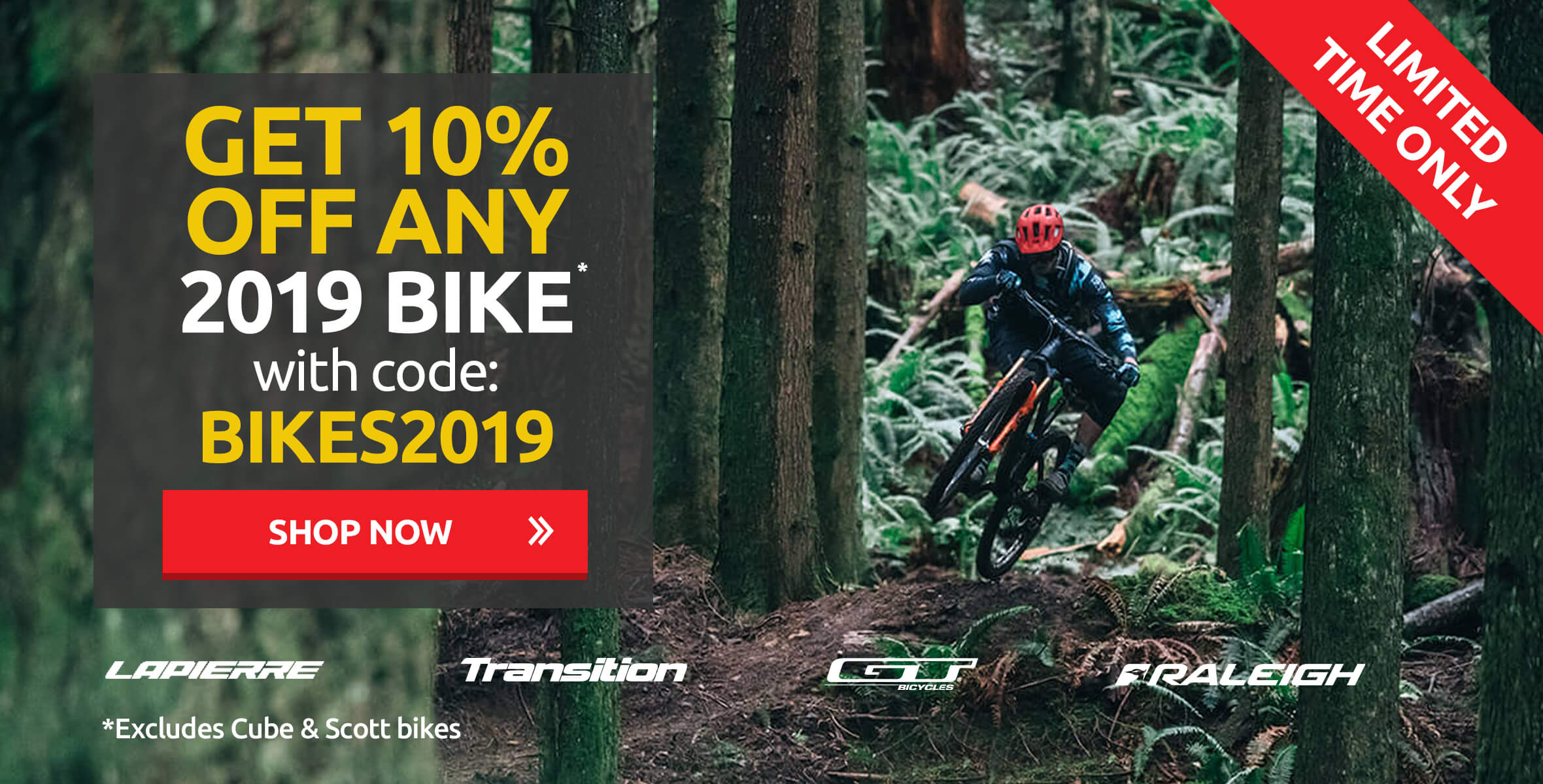 Save 10% with code - BIKES2019