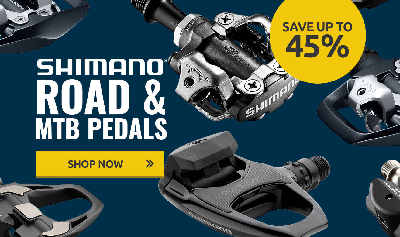 Save up to 45% on Shimano Road & MTB Pedals