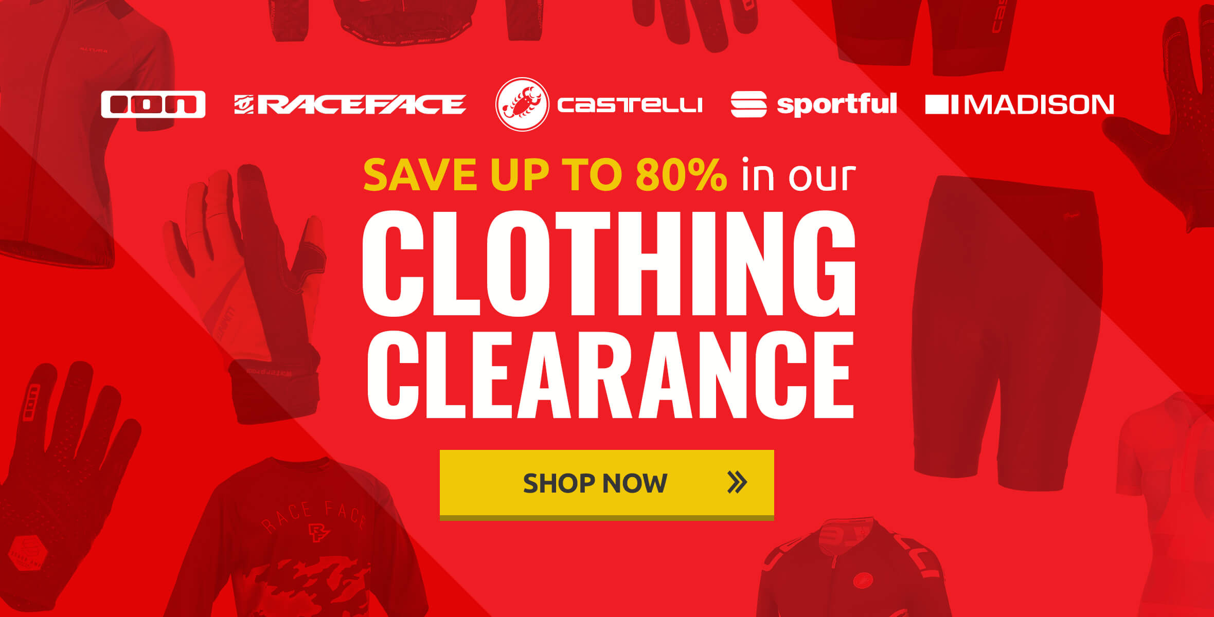 Save up to 80% in our Clothing Clearance