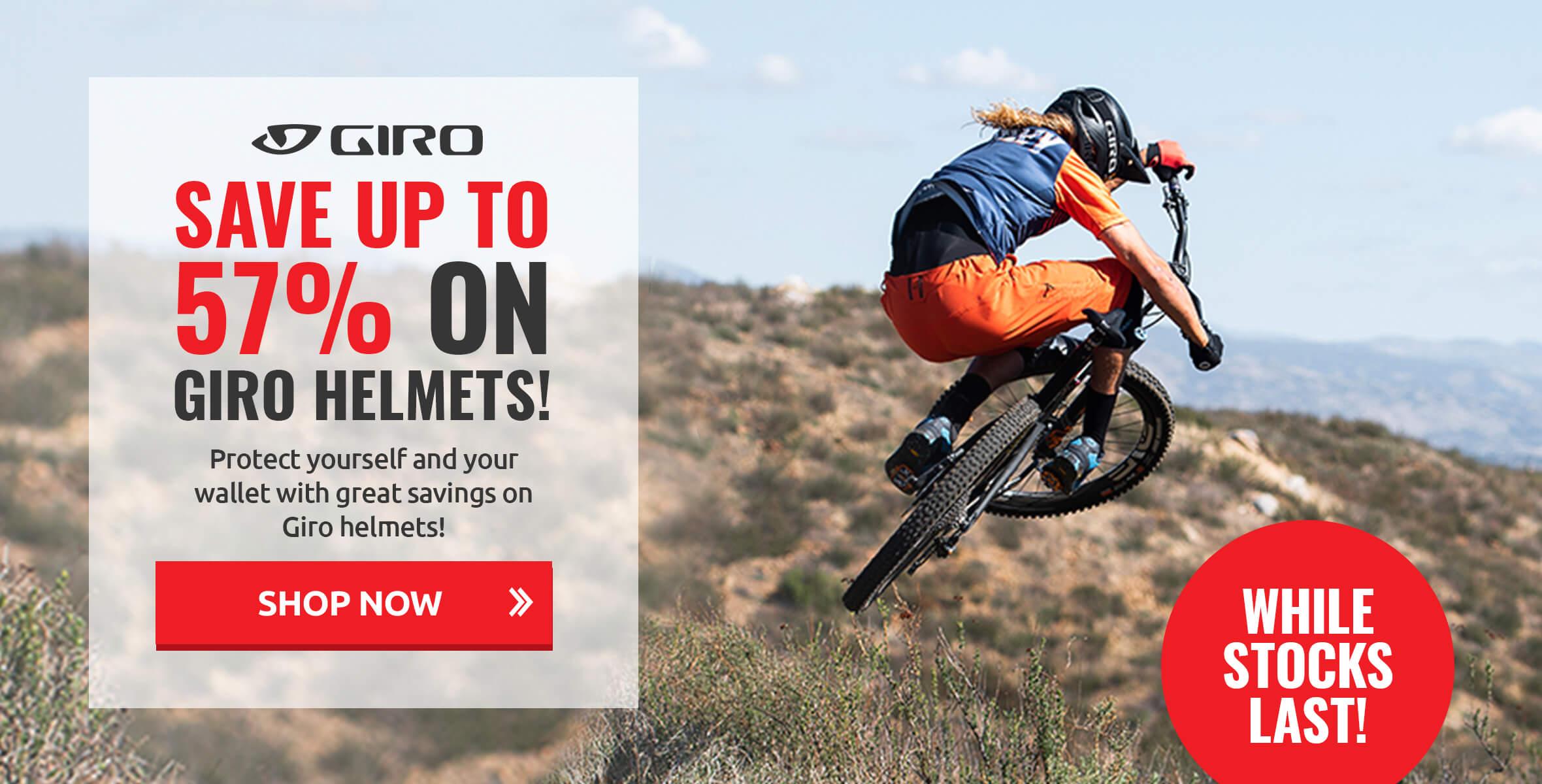 Save up to 57% on Giro Helmets