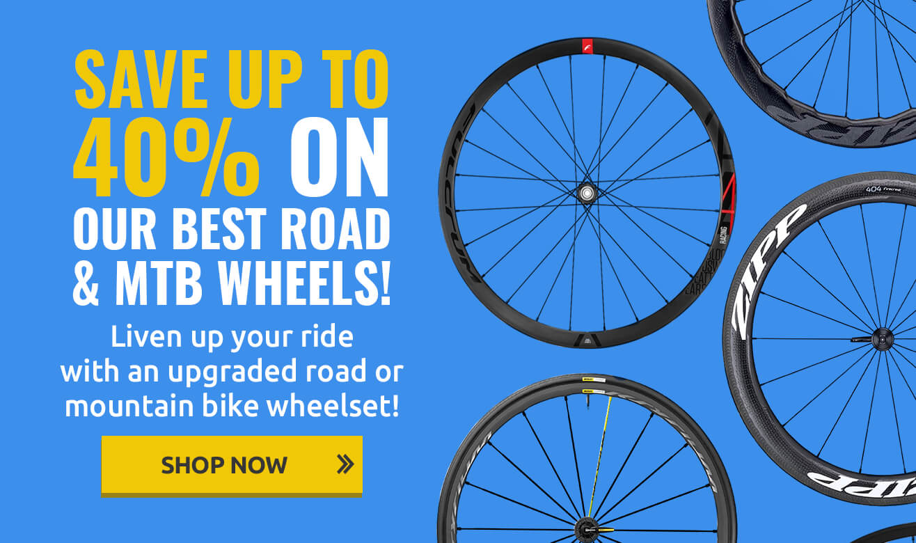 Save up to 40% on Road & MTB Wheels
