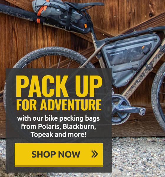 Pack up for adventure with our bike packing bags!