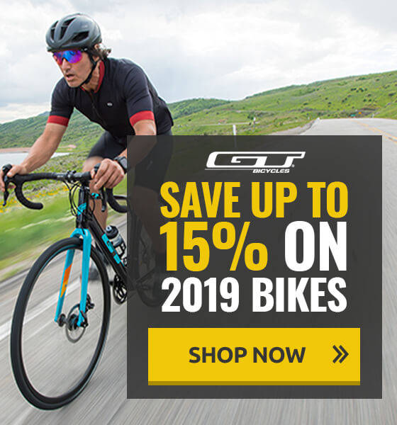 Save up to 15% on 2019 GT Bicycles