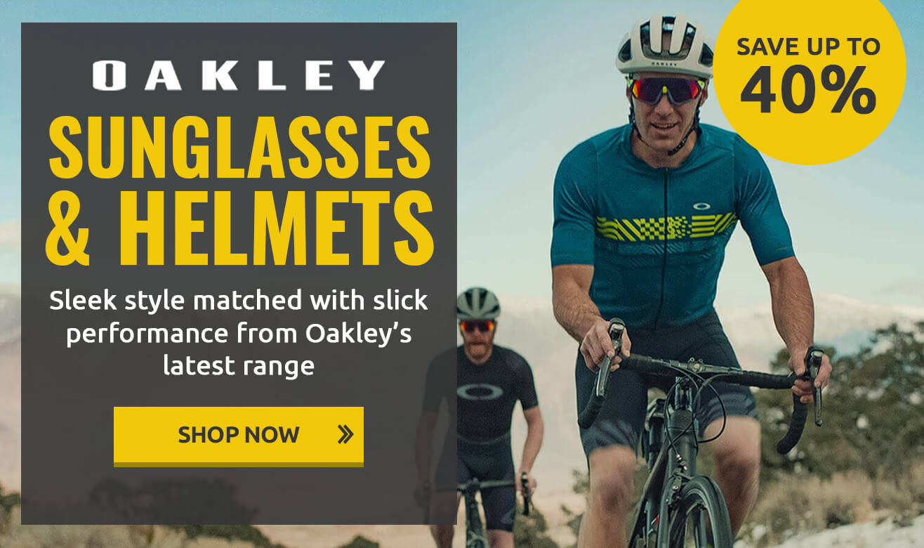Save up to 40% on Oakley Sunglasses & Helmets