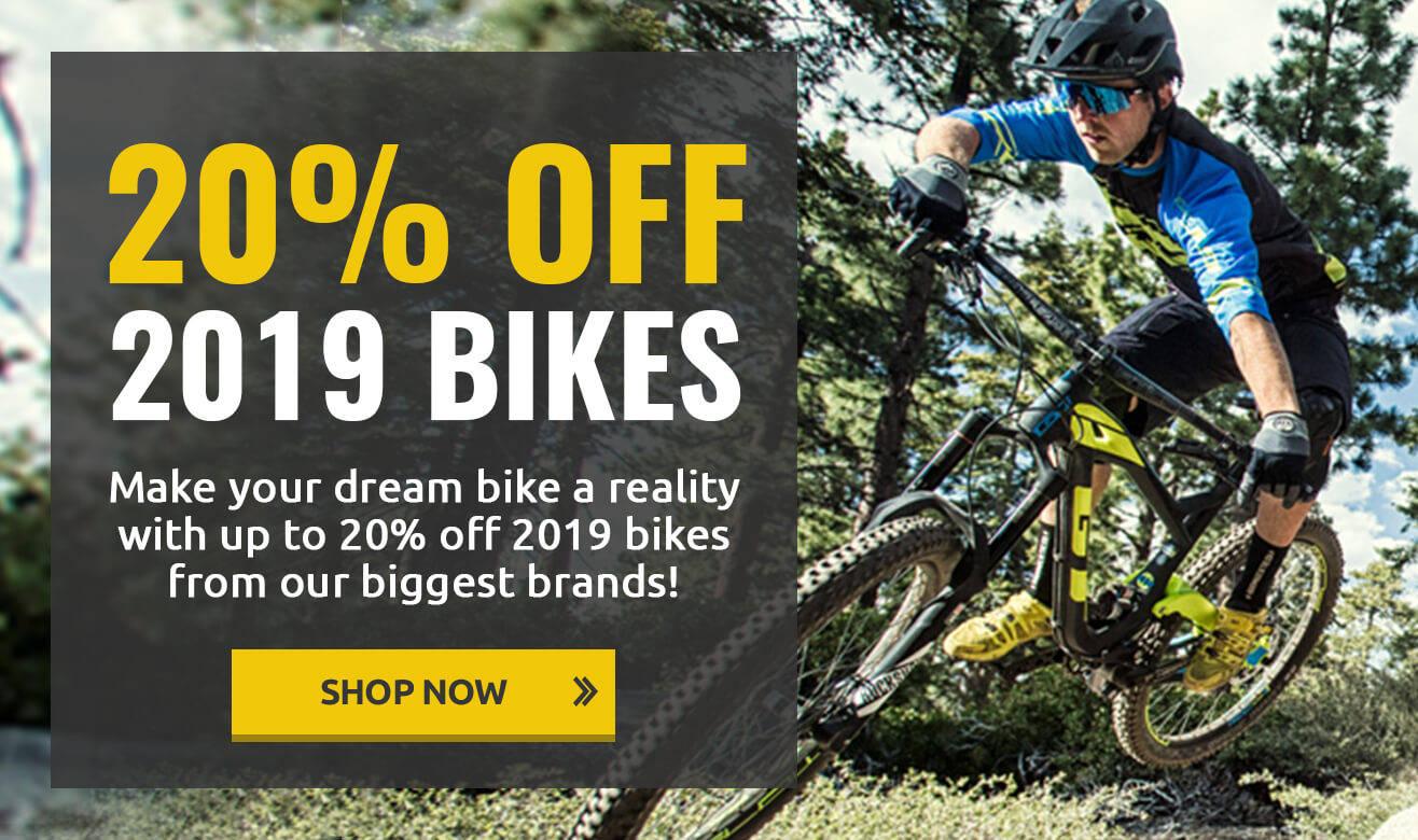 20% Off 2019 Bikes