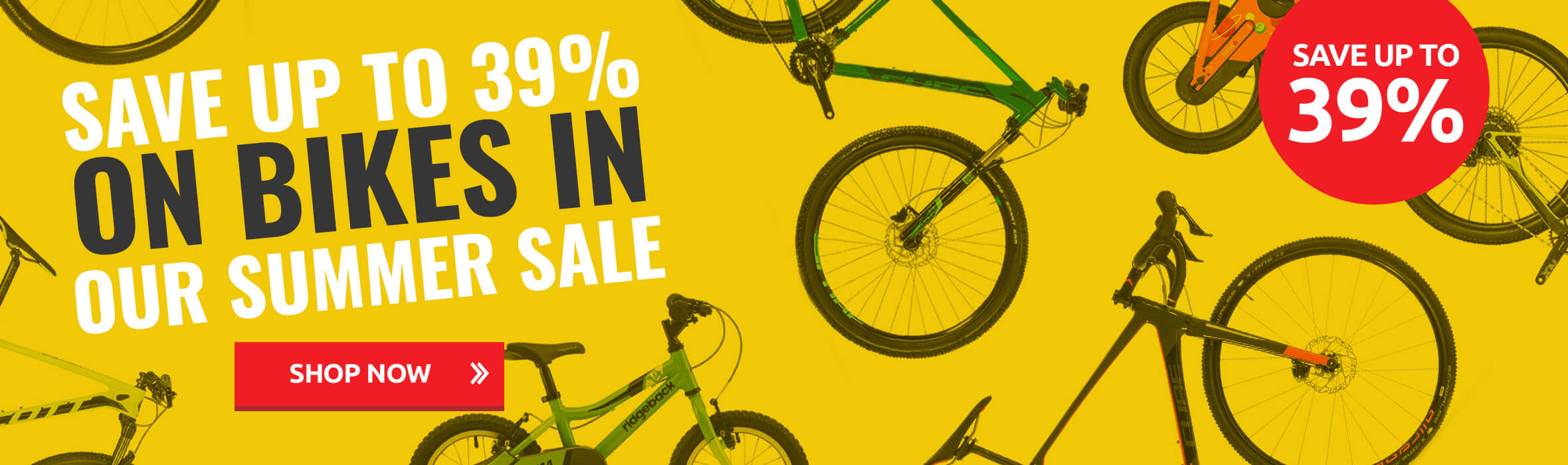 Save up to 39% on Bikes in Our Summer Sale