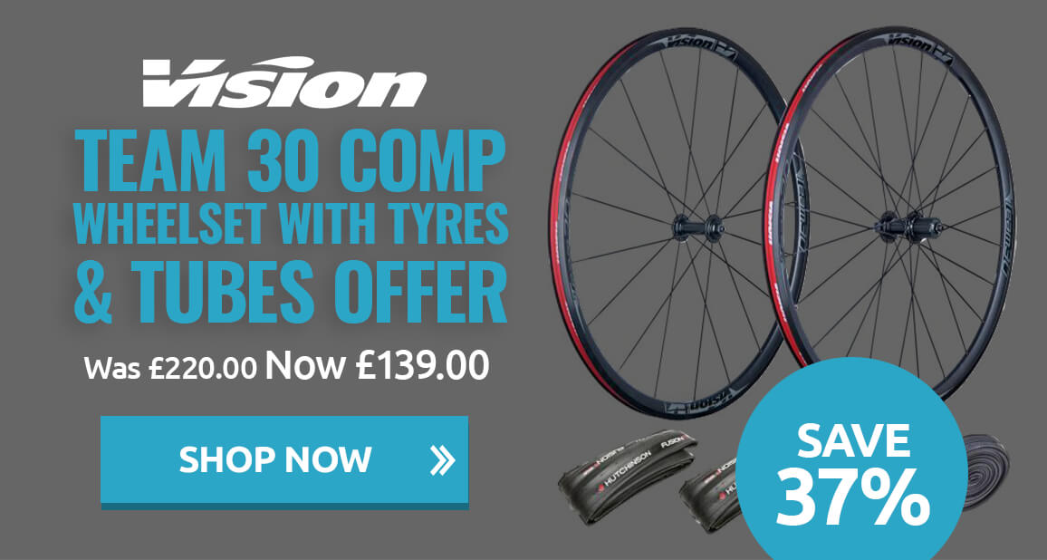 Vision Team 30 Comp wheelset with tyres & tubes offer