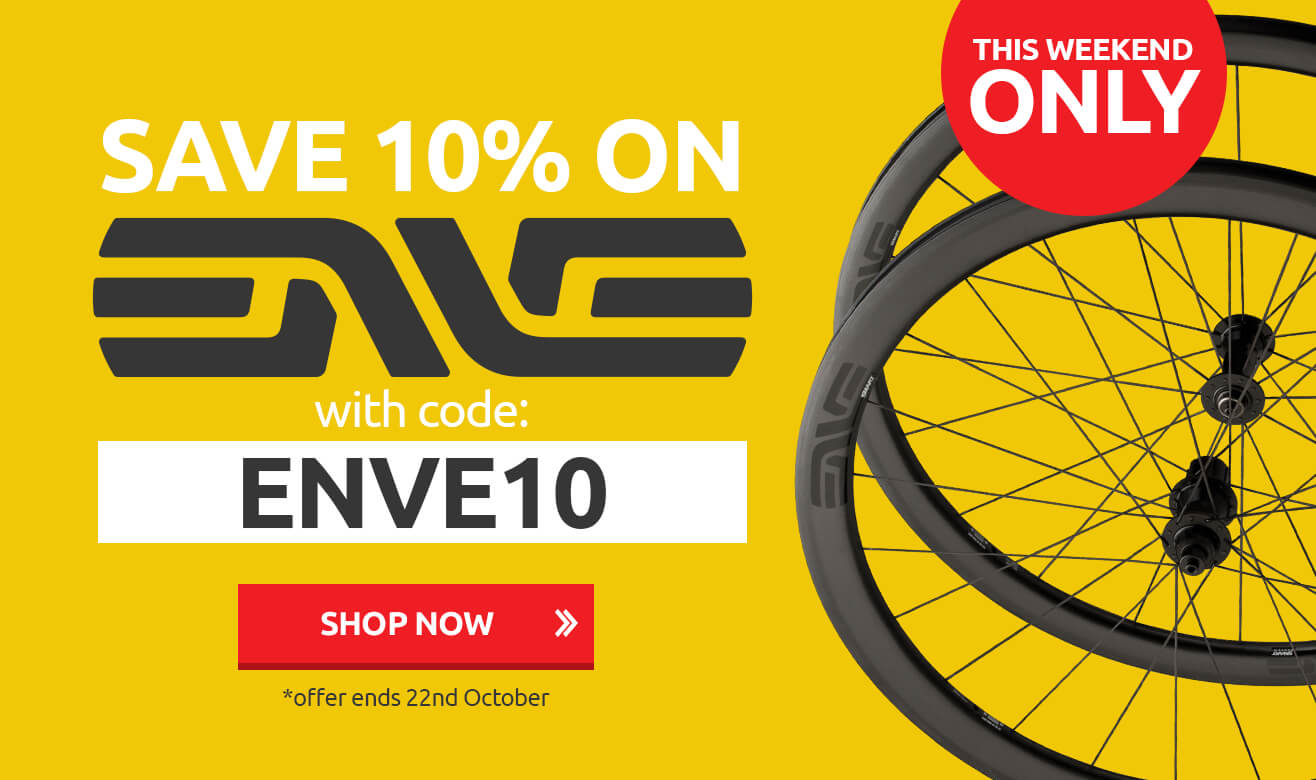 Save 10% on Enve with Code ENVE10