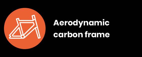 Aerodynamic carbon frame