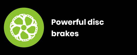 Powerful disc brakes