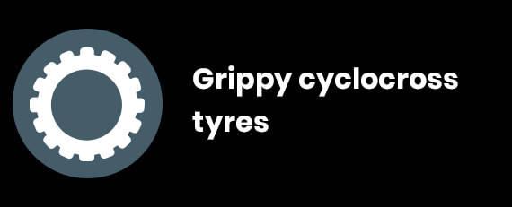 Grippy cyclocross tyres