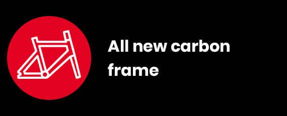All new carbon frame