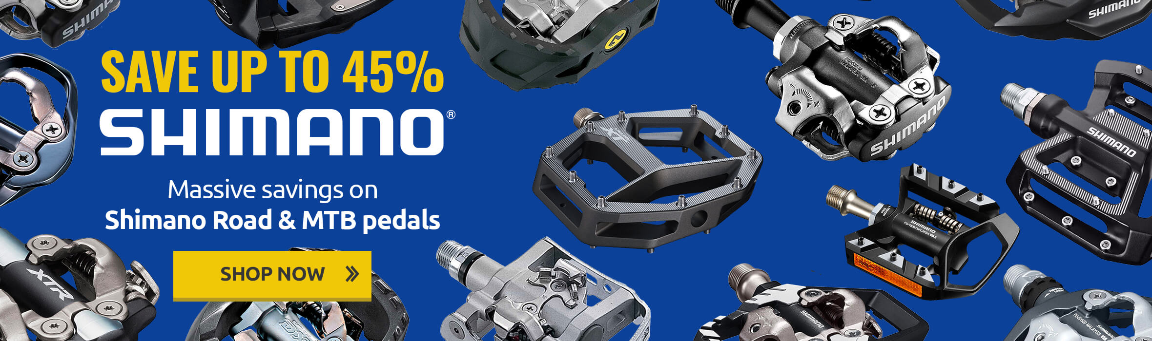 Save up to 45% on Shimano Pedals