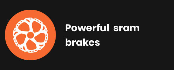 Powerful Sram brakes
