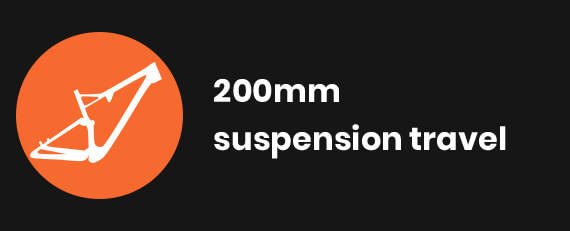200mm suspension travel