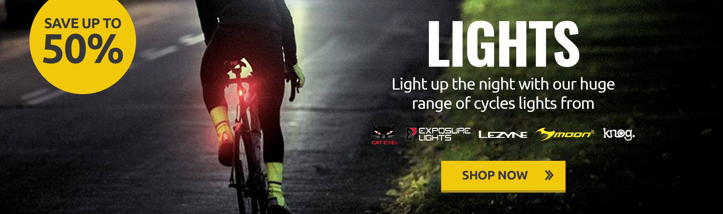 Save up to 50% on Lights
