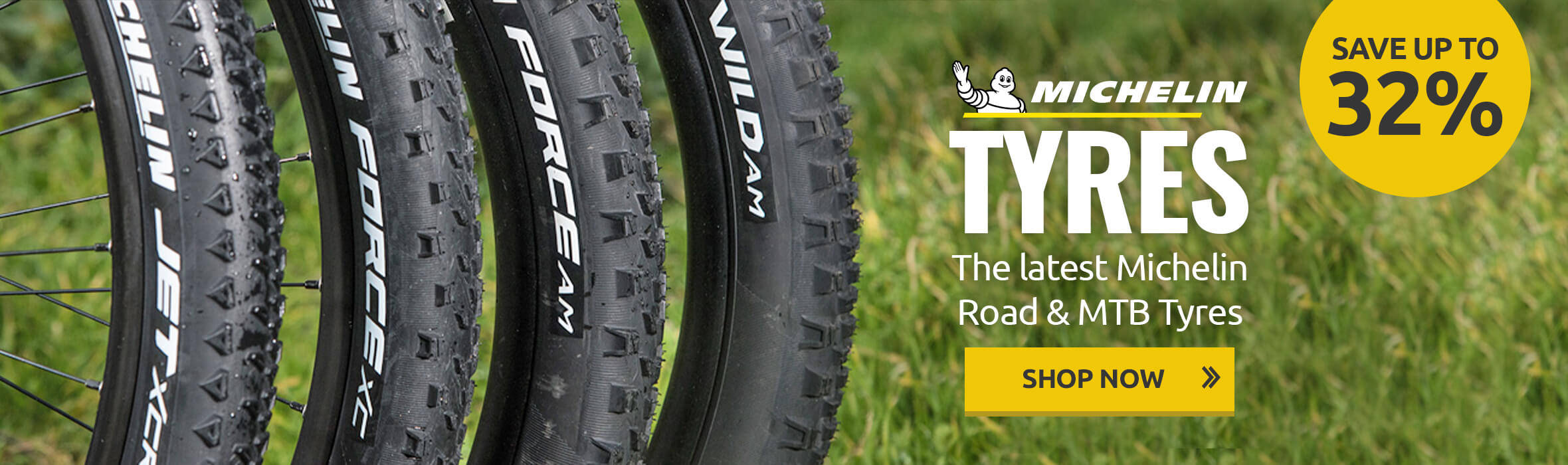 Save up to 32% on Michelin Tyres