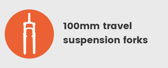 100mm Travel suspension Forks