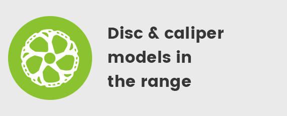 Disc & caliper models in the range
