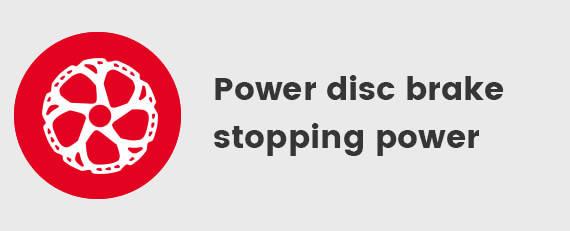 Power disc brake stopping power