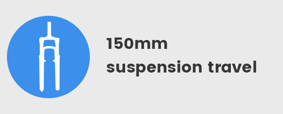 150mm suspension travel