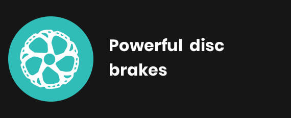Powerful Disc brakes