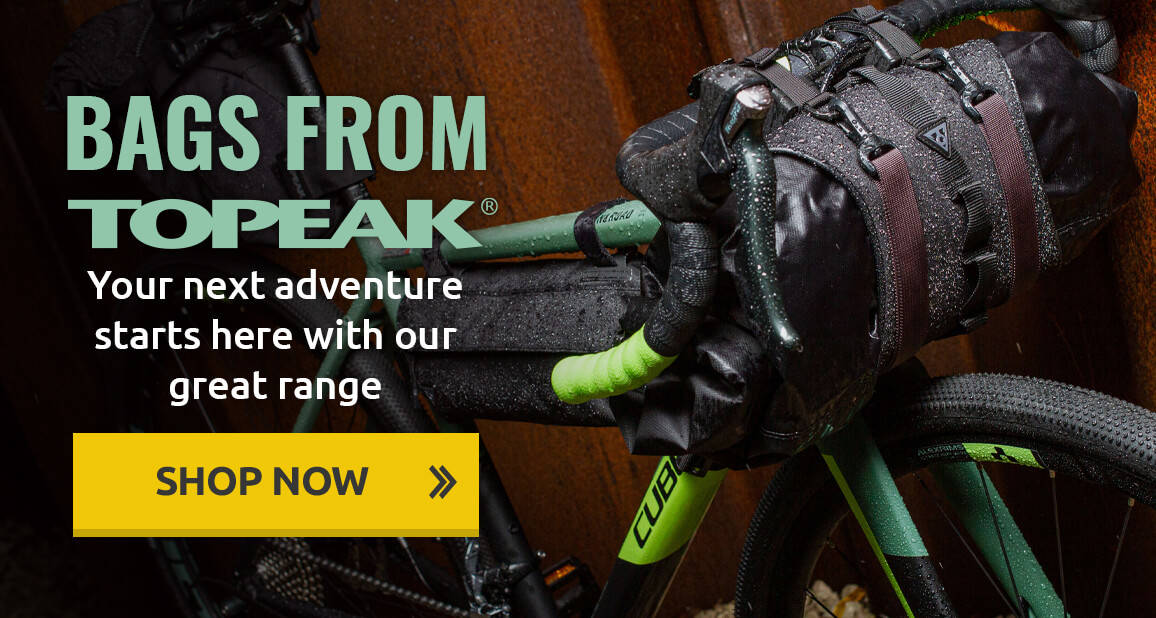 Your next adventure starts here with our great range of Topeak bags