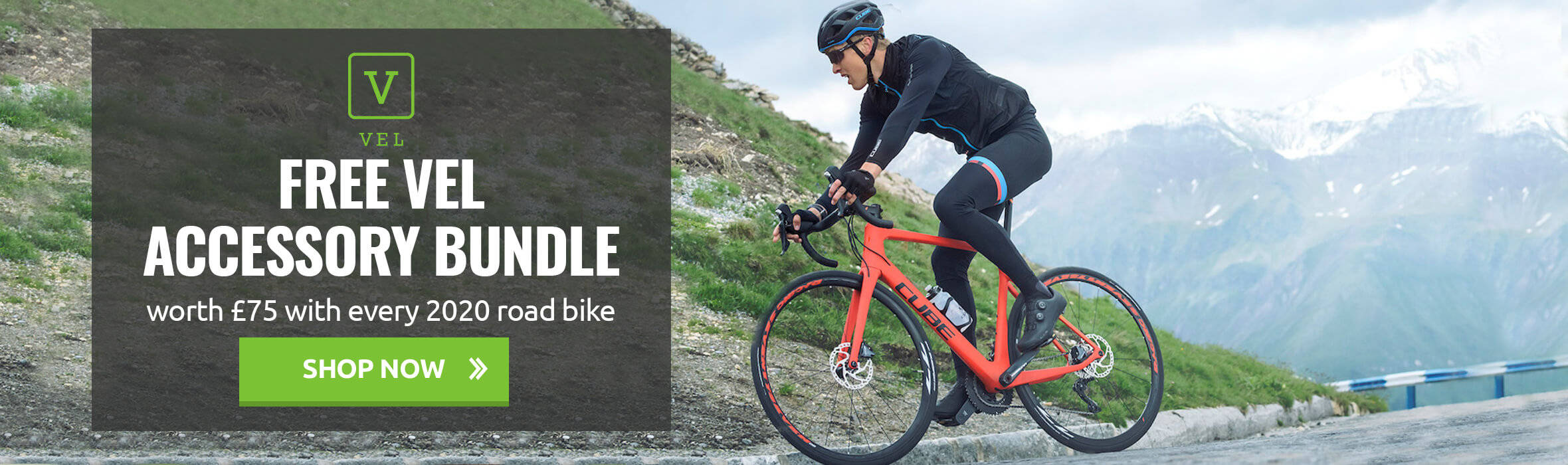 Free VEL Accessory Bundle Worth £75 With Every 2020 Road Bike
