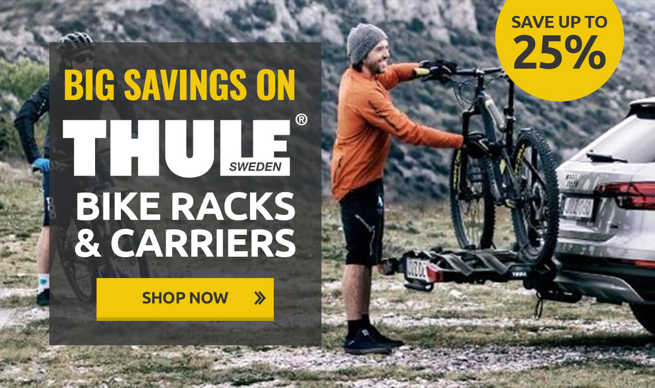 Save up to 25% on Thule Bike Racks & Carriers