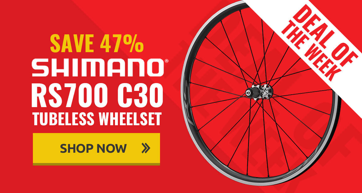 47% off Shimano RS700 C30 Tubeless Wheelset
