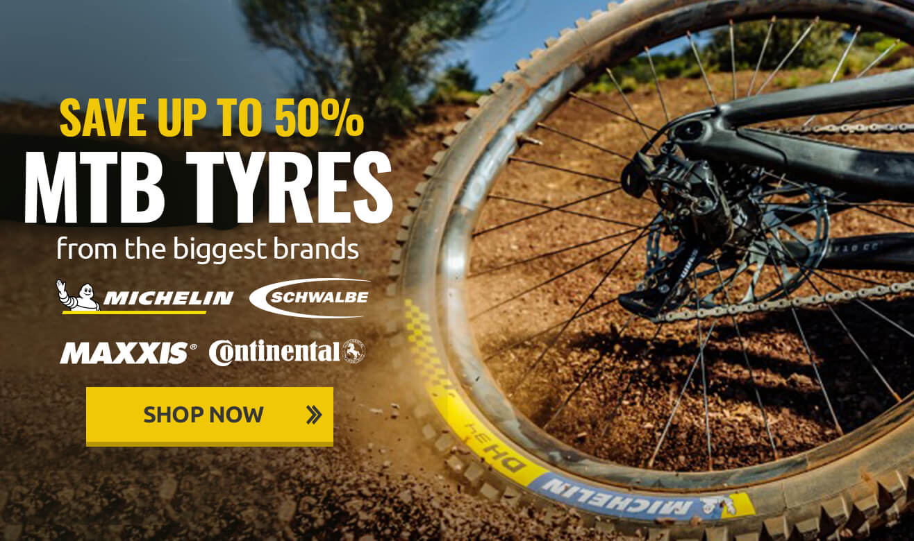 Save up to 50% on MTB Tyres From the Biggest Brands