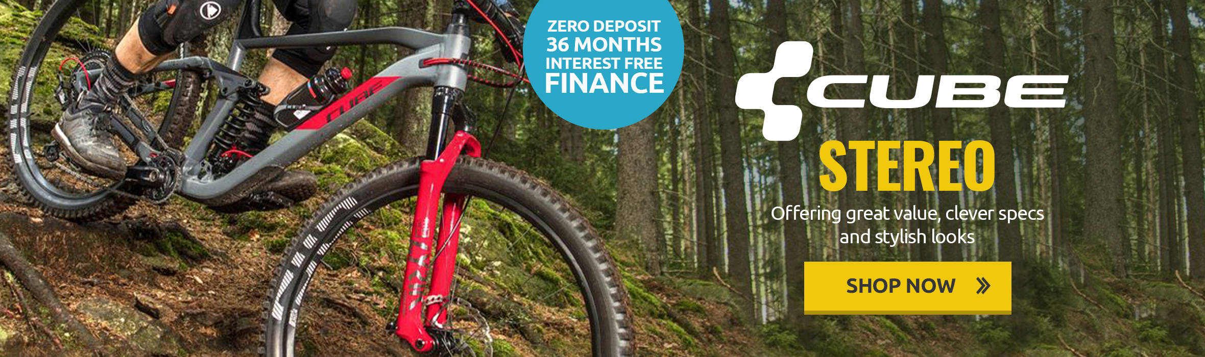 Cube Stereo - Zero Deposit, 36 Months Interest Free Finance on the Cube 2020 Range