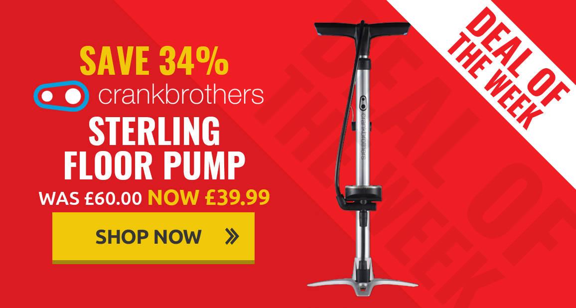 34% off Crank Brothers Sterling Floor Pump