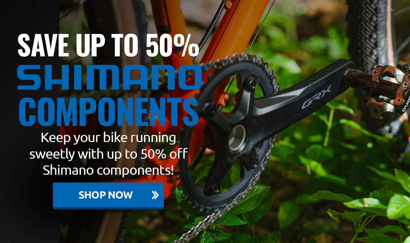 Save up to 50% on Shimano Components