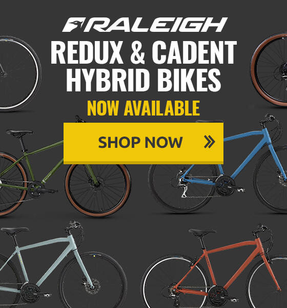 New Raleigh Cadent and Redux Hybrid Bikes now available