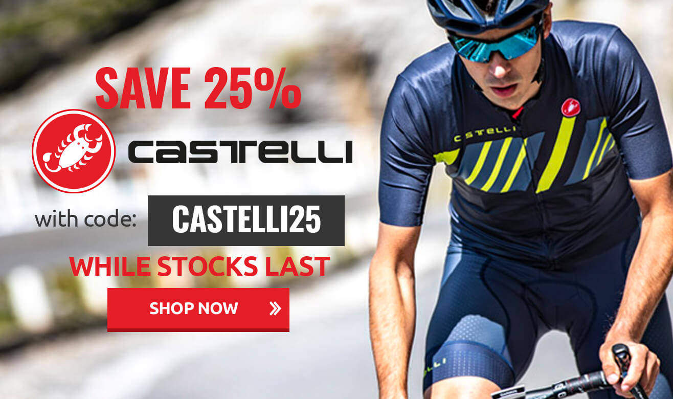 Save 25% on Castelli with code Castelli25