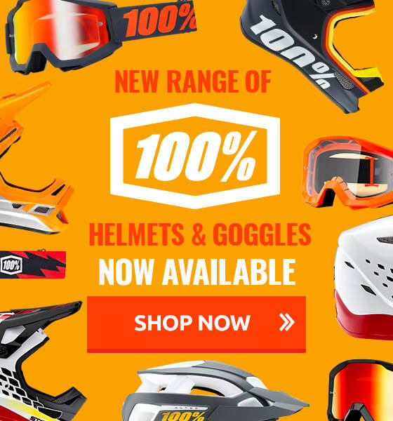 New 100% helmets & goggles now available