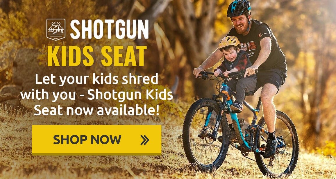 Let your kids shred with you - Shotgun Kids Seat now available!
