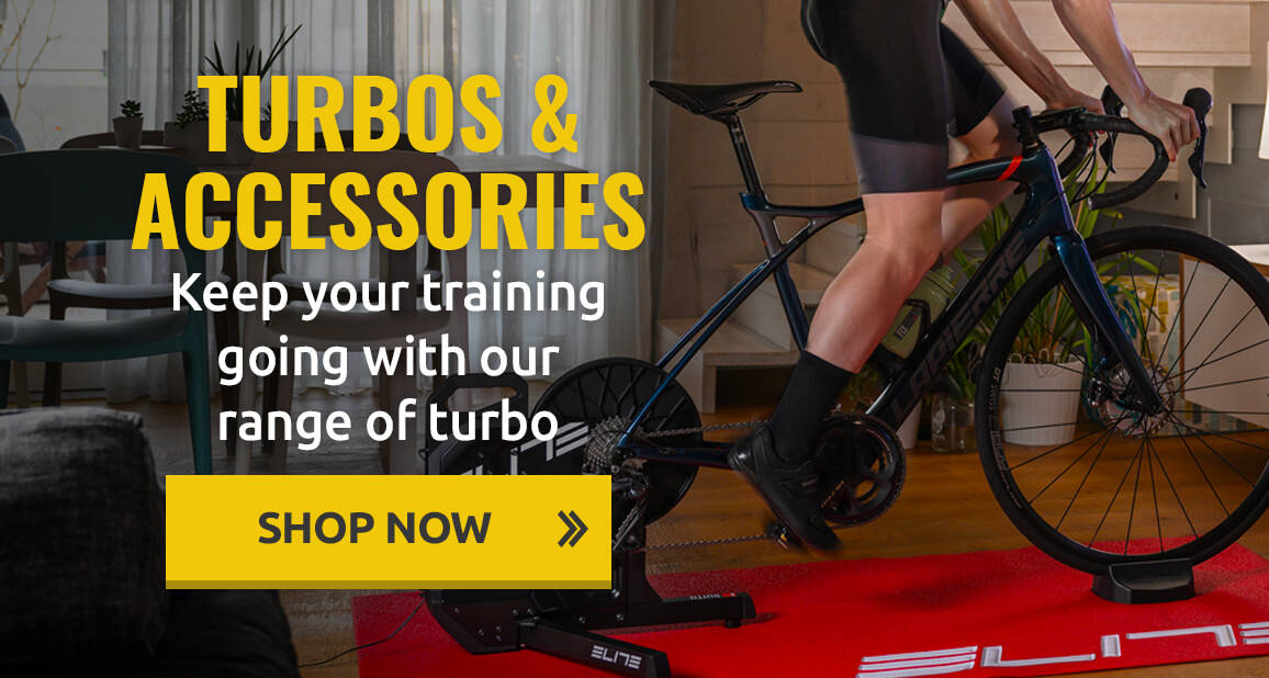 Keep your training going with our range of turbo trainers & accessories!