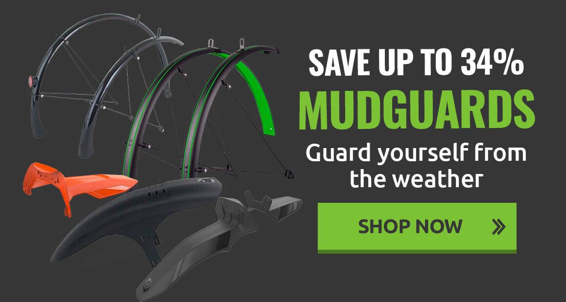 Guard yourself from the weather with up to 34% off mudguards!