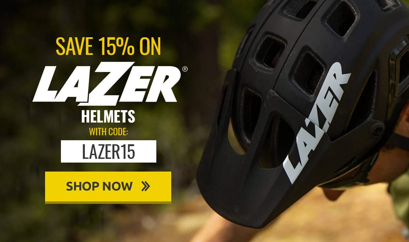 Save 15% on Lazer Helmets with code LAZER15