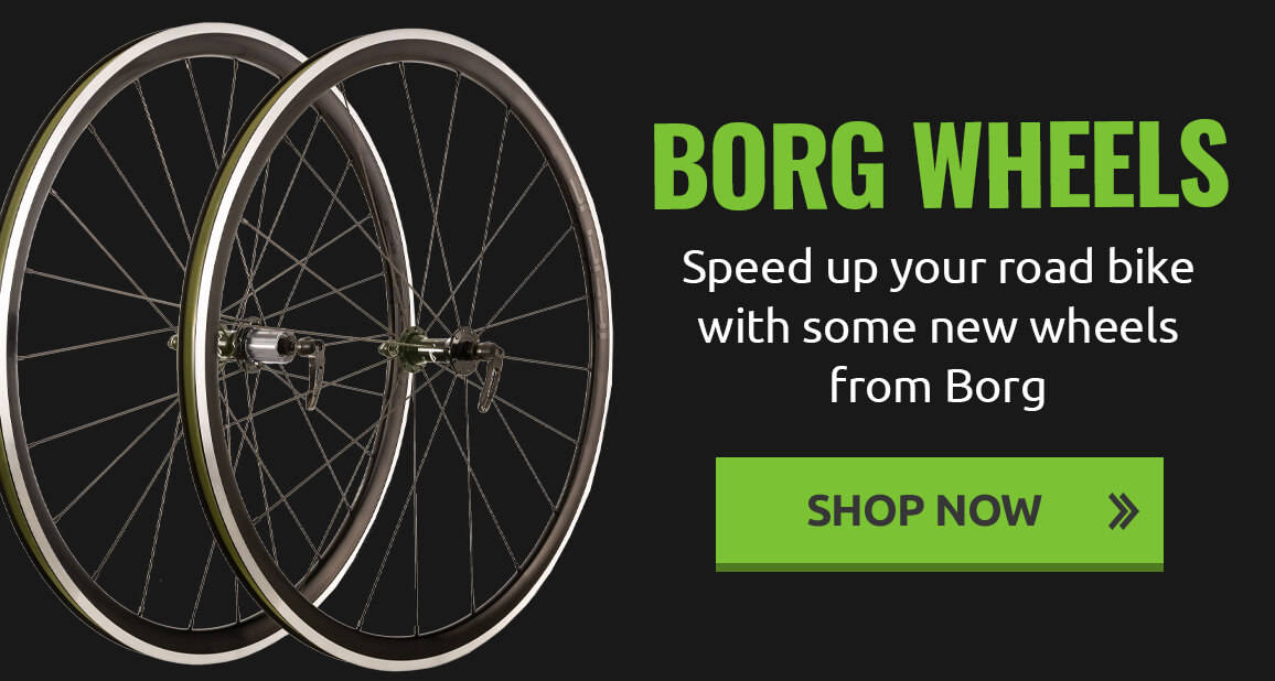 Speed up your road bike with some new wheels from Borg
