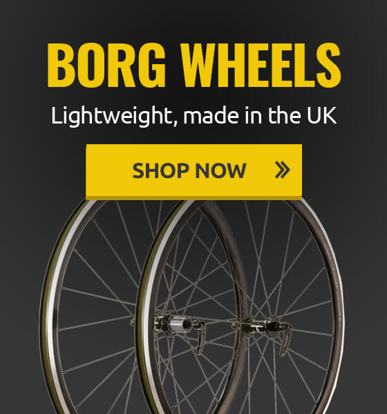 Lightweight, made in UK Borg wheels