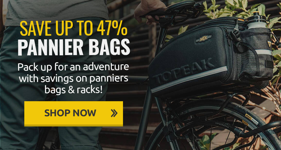 Save up to 47% on panniers bags & racks