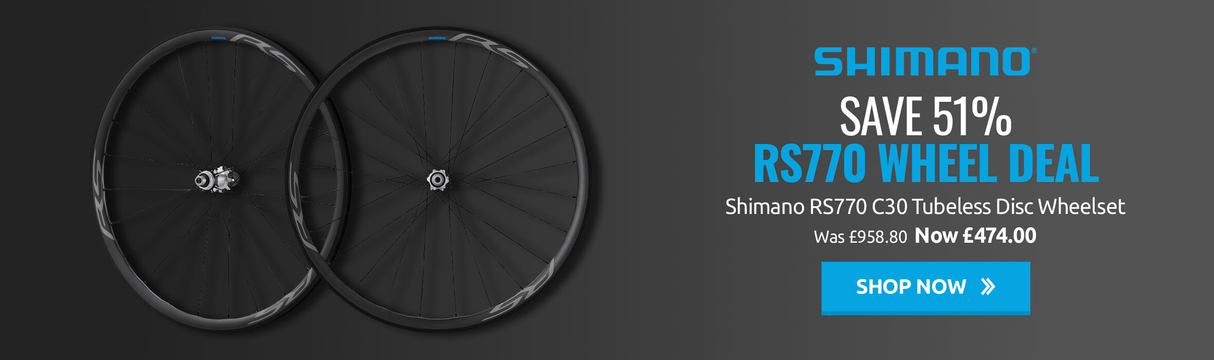 Save 51% on Shimano RS770 Wheel Deal