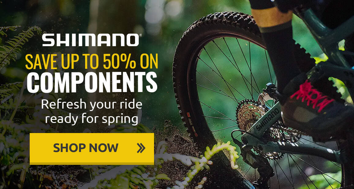Refresh your ride ready to spring with up to 50% off Shimano components