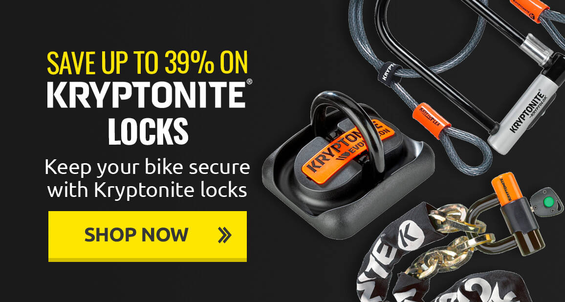 Keep your bike secure with up to 39% off Kryptonite locks
