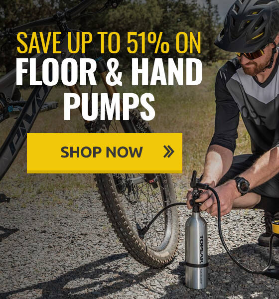 Save up to 51% on floor and hand pumps!
