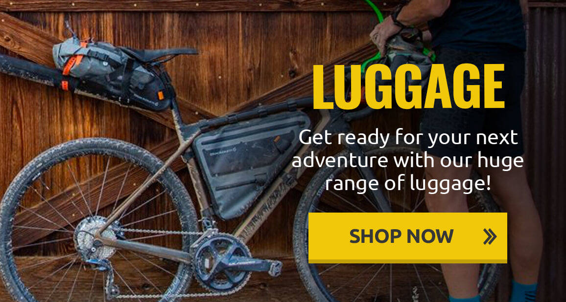Get ready for your next adventure with our huge range of bike bags, back-packing bags, pannier bags and more!